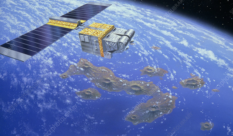 Artist's impression of Spot-1 over Galapagos Is.