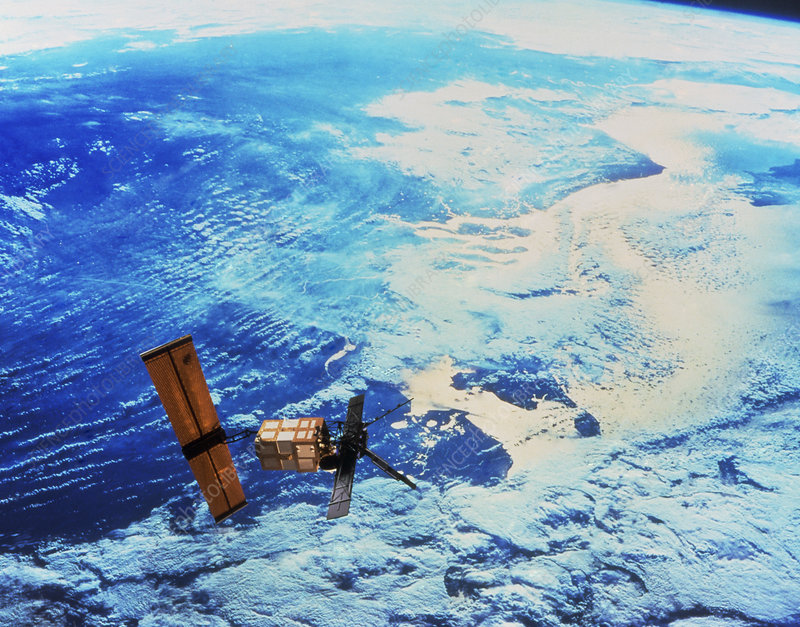 ERS-1 satellite over the coast of Holland