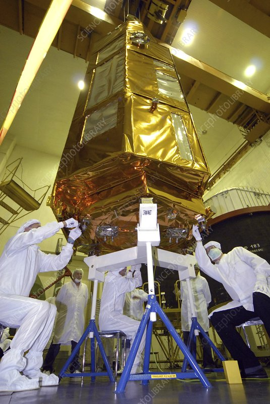TerraSAR-X satellite launch preparations