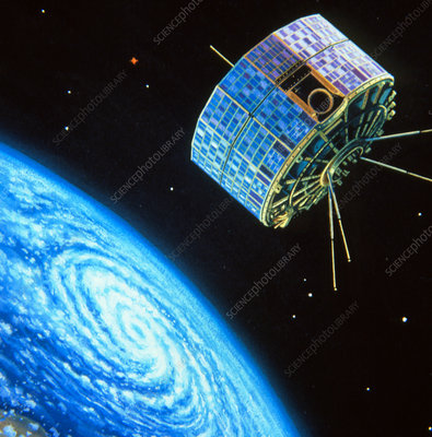 Artwork of a TIROS meteorological satellite