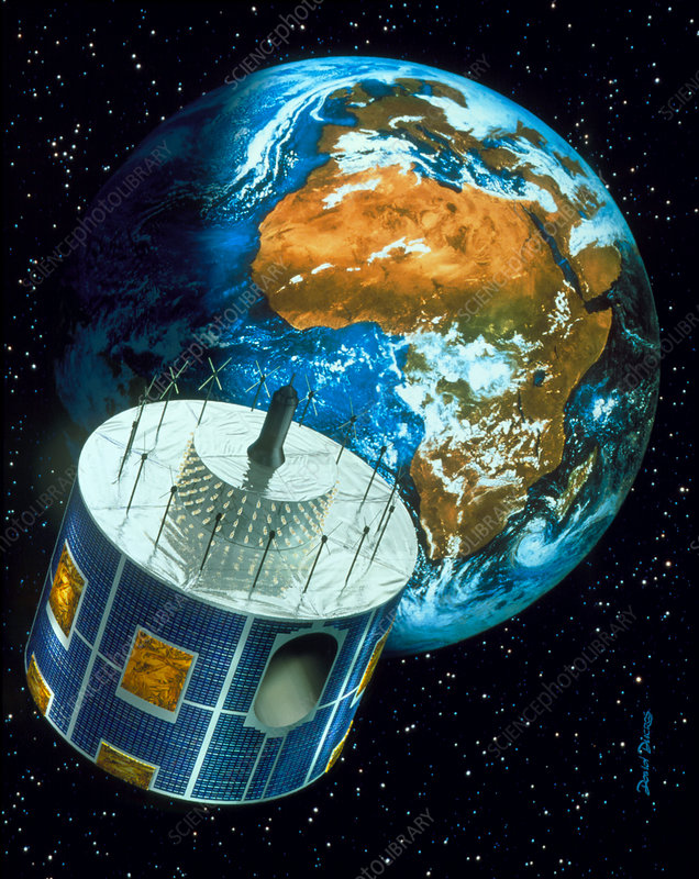 Meteosat satellite orbiting Earth