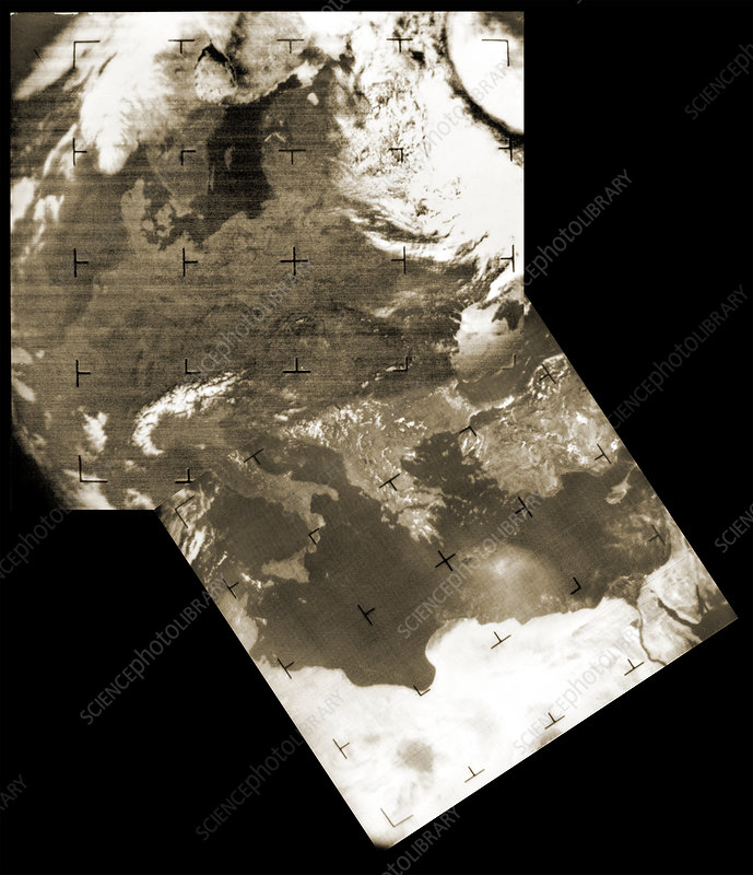 Early weather satellite images
