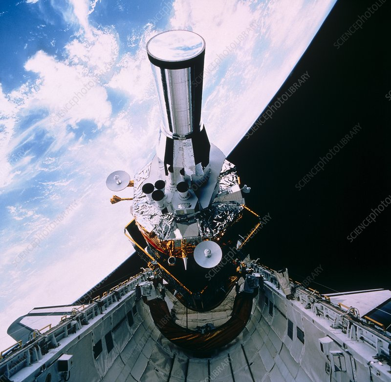 DSP satellite being deployed by Shuttle STS-44