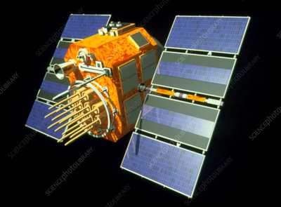 Artwork of a Glonass Global Positioning Satellite