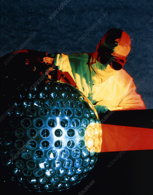 Reflector checks on Lageos-2 satellite