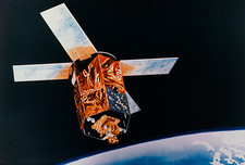 Artwork of SeaStar satellite in orbit