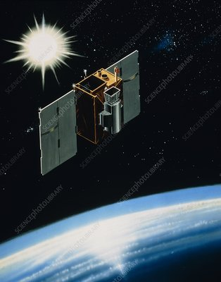 Artist's impression of SAMPEX in orbit