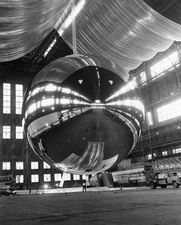 Inflation test of the PAGEOS inflatable satellite