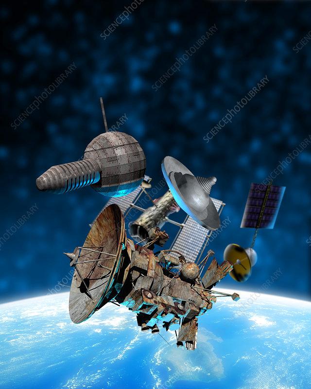 Space debris - Stock Image S800/0031