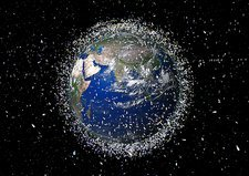 Space debris, artwork