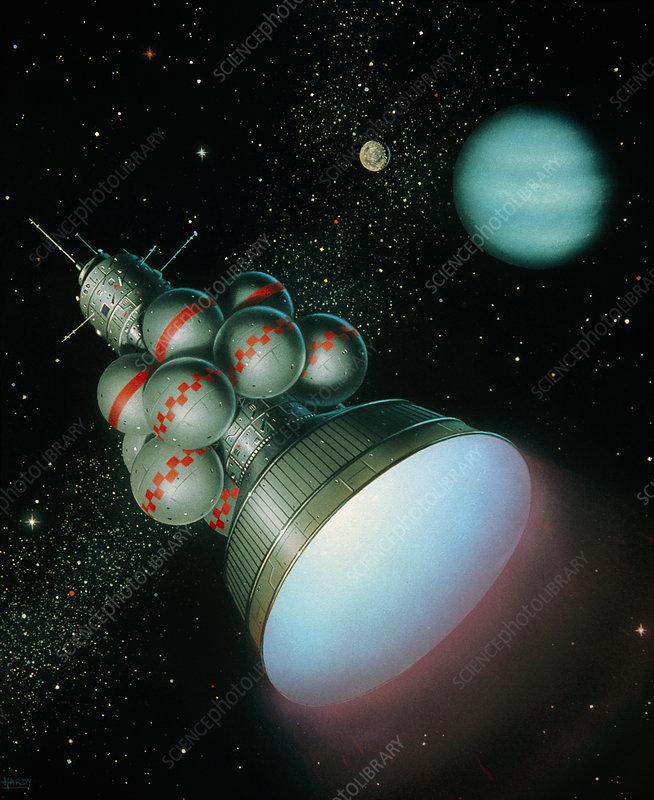 Artwork of Starship Daedalus.