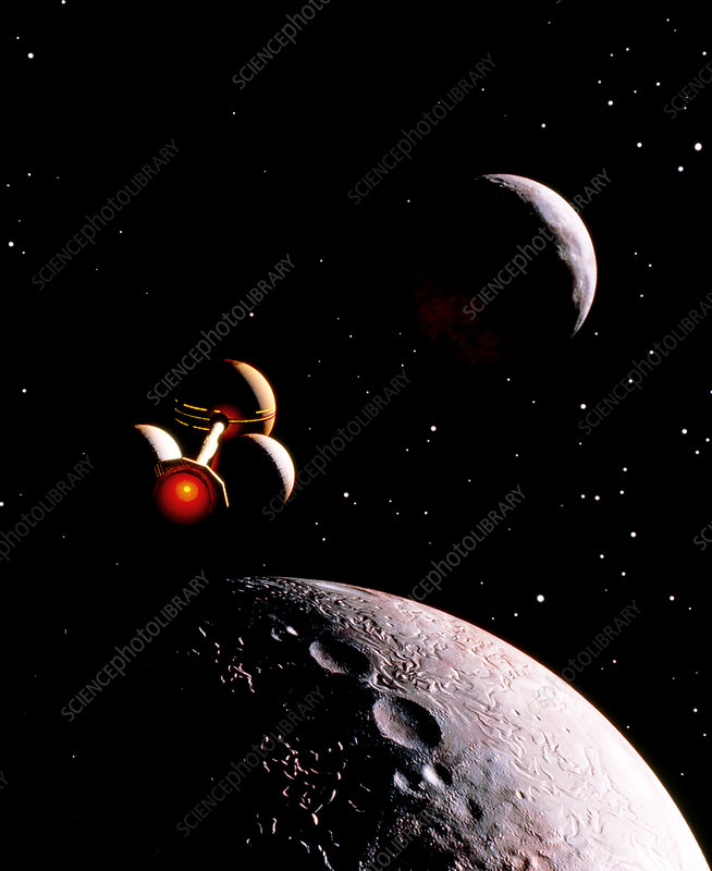 Artwork showing future planetary exploration