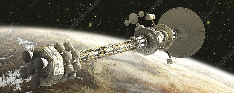 Nuclear-powered spacecraft, artwork