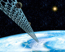 Carbon nanotube space elevator