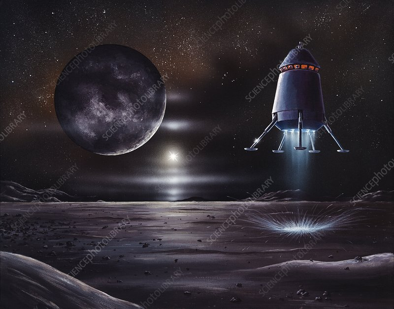 Manned mission to Charon, artwork