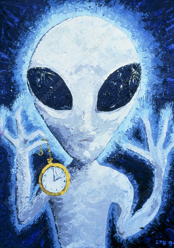 Composite oil painting of Extraterrestrial Alien