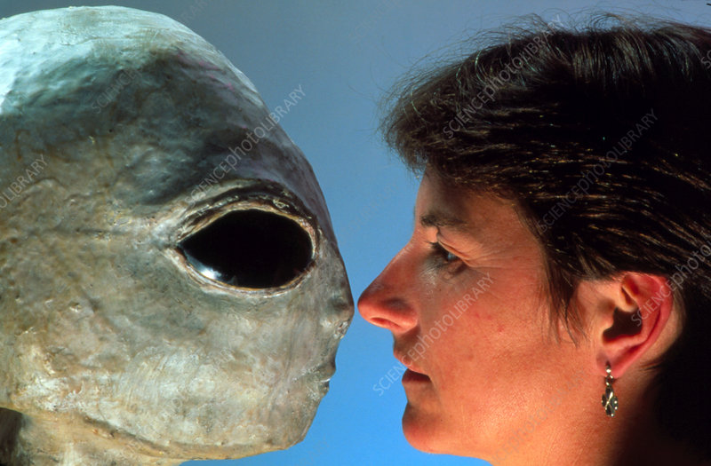 Extraterrestrial Alien sculpture with Dr Blackmore