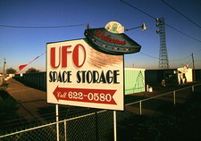 UFO Space Storage sign in the town of Roswell