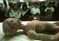 Alien autopsy exhibit at UFO museum, Roswell