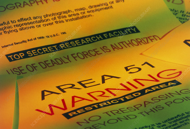 Warning signs from the Area 51 UFO research site