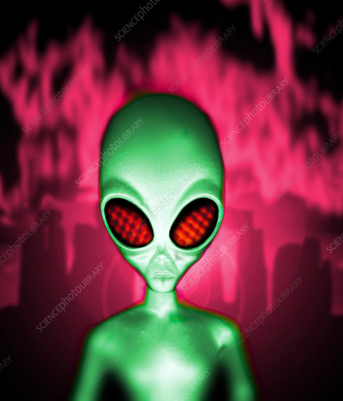 Computer artwork of an alien or extraterrestrial