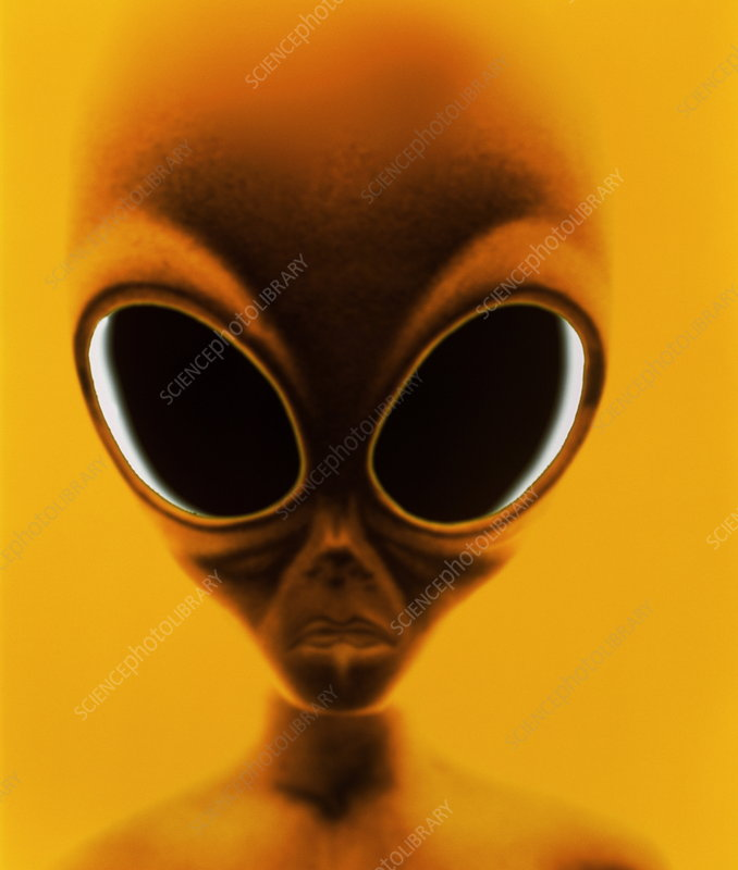 Computer artwork of an alien or extraterr