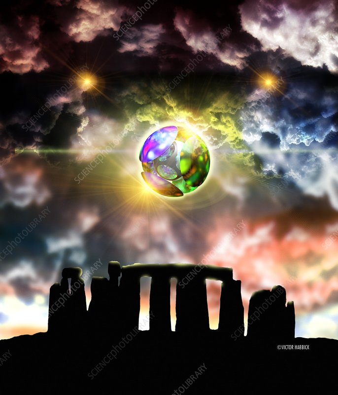 Glowing ball UFO over Stonehenge