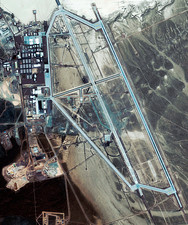 Area 51 UFO site, satellite image