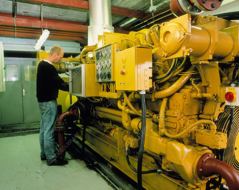 Generator to obtain electricity from landfill gas