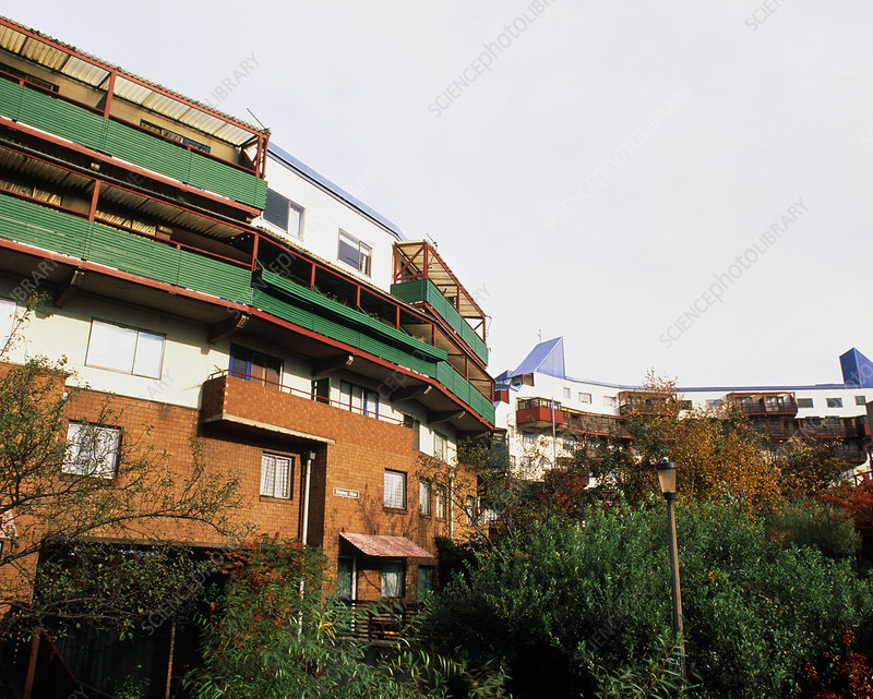 Byker houses heated by Refuse Power Station, UK