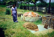 Small-scale biogas digester, India