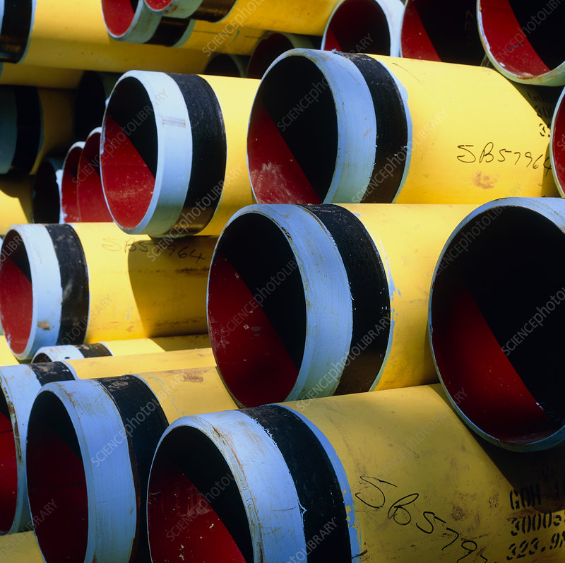 Steel pipes used in the gas industry