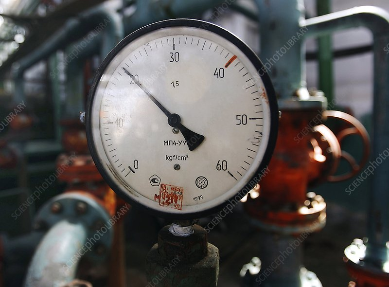 Pressure dial, natural gas industry