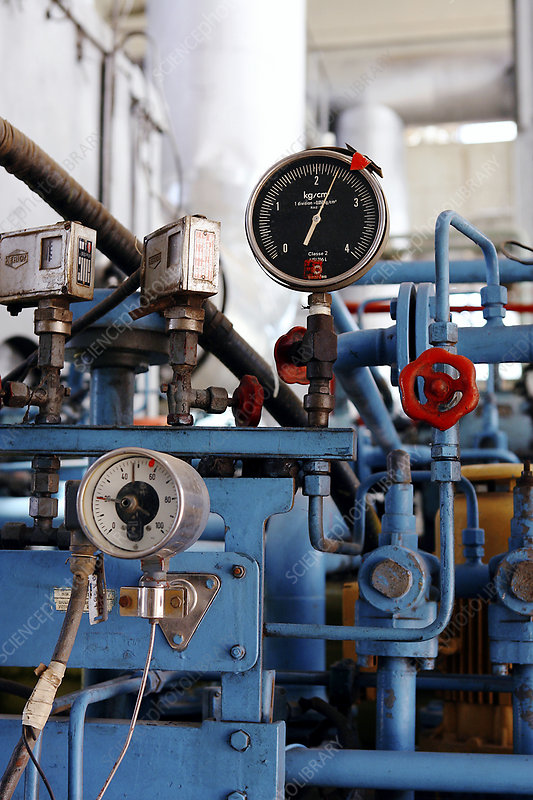 Pressure dials, natural gas industry