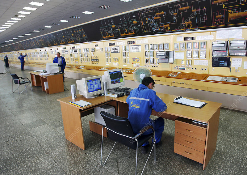 Natural gas industry, control room