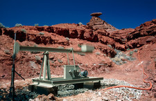 Drilling for oil near Mexican Hat, Utah, USA