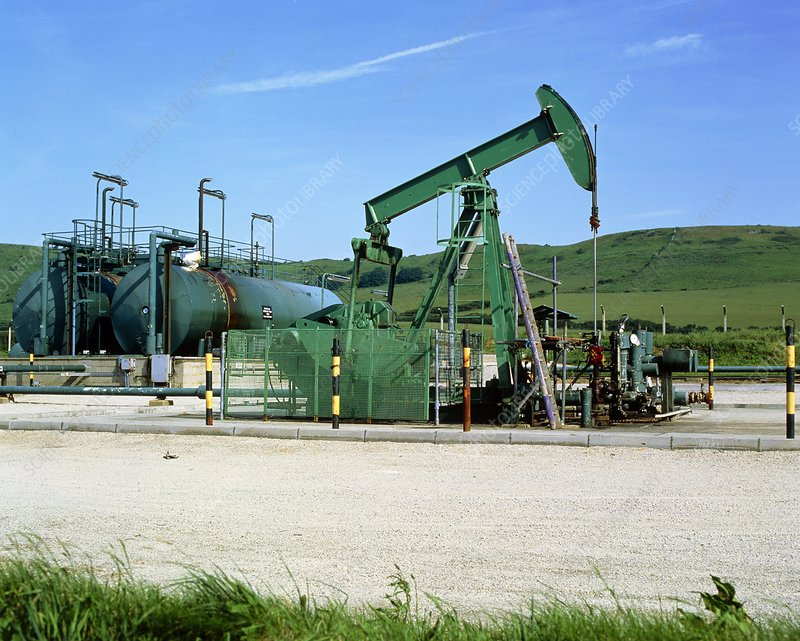 A jack pump used for oil extraction