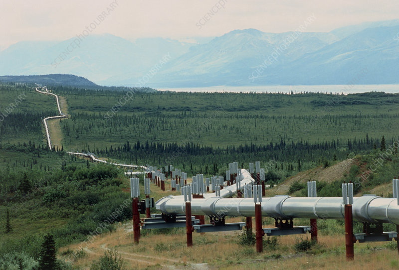 Part of the Trans-Alaskan Oil Pipeline