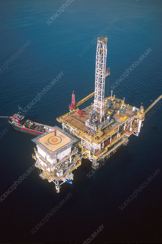 Offshore oil rig near Long Beach, California