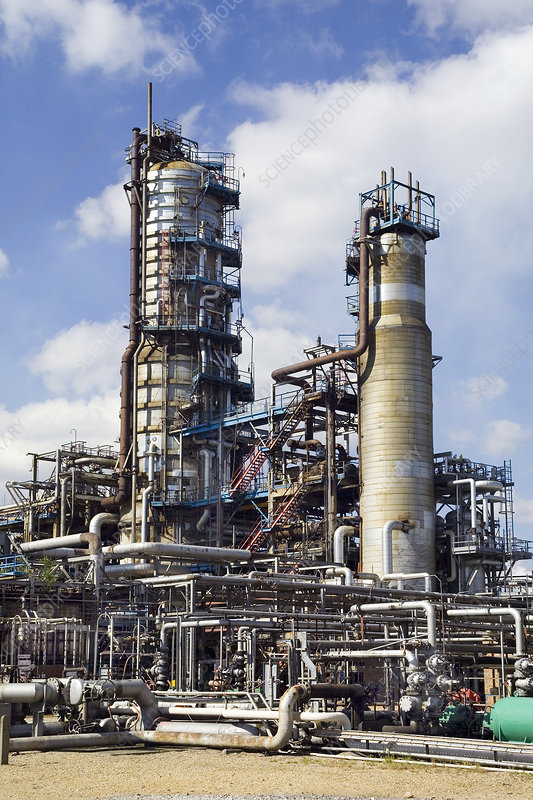 Pipestills at an oil refinery