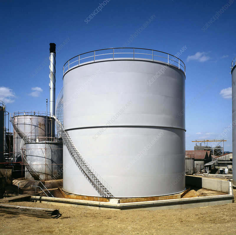 Oil refinery storage tank