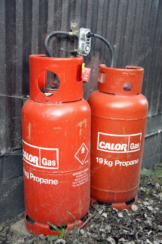 Liquefied propane gas cylinders