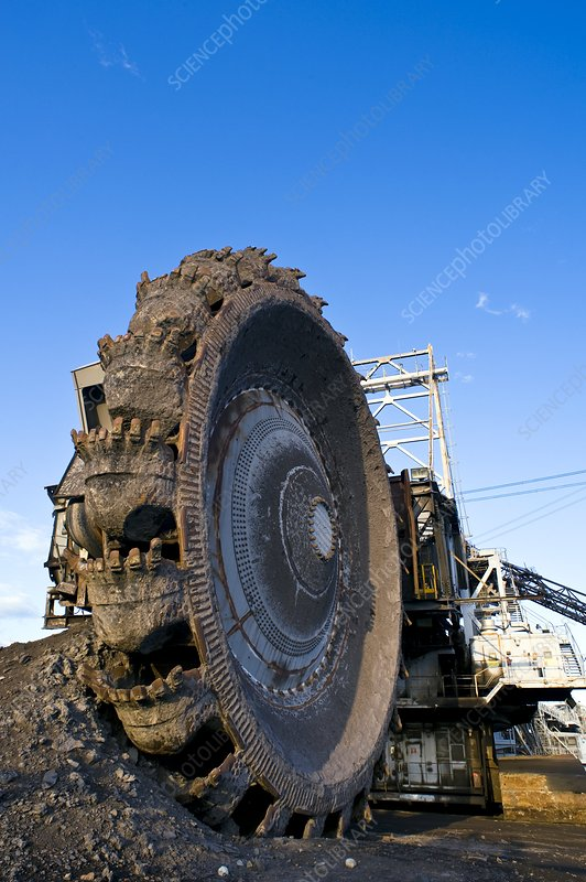 Oil sands bucketwheel