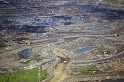 Opencast mine, Athabasca Oil Sands
