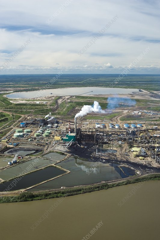 Oil processing plant, Athabasca Oil Sands