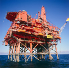 Murchison platform, production rig in North Sea