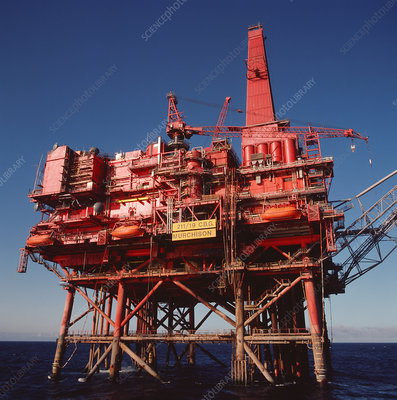Murchison Platform oil rig in North Sea