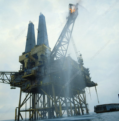 Oil rig in North Sea