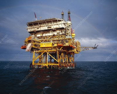 Claymore-A - North Sea oil rig