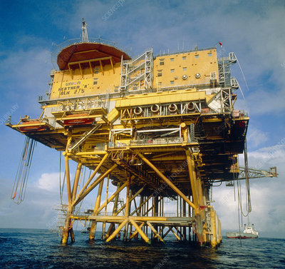 Heather-Alpha oil production platform in North Sea